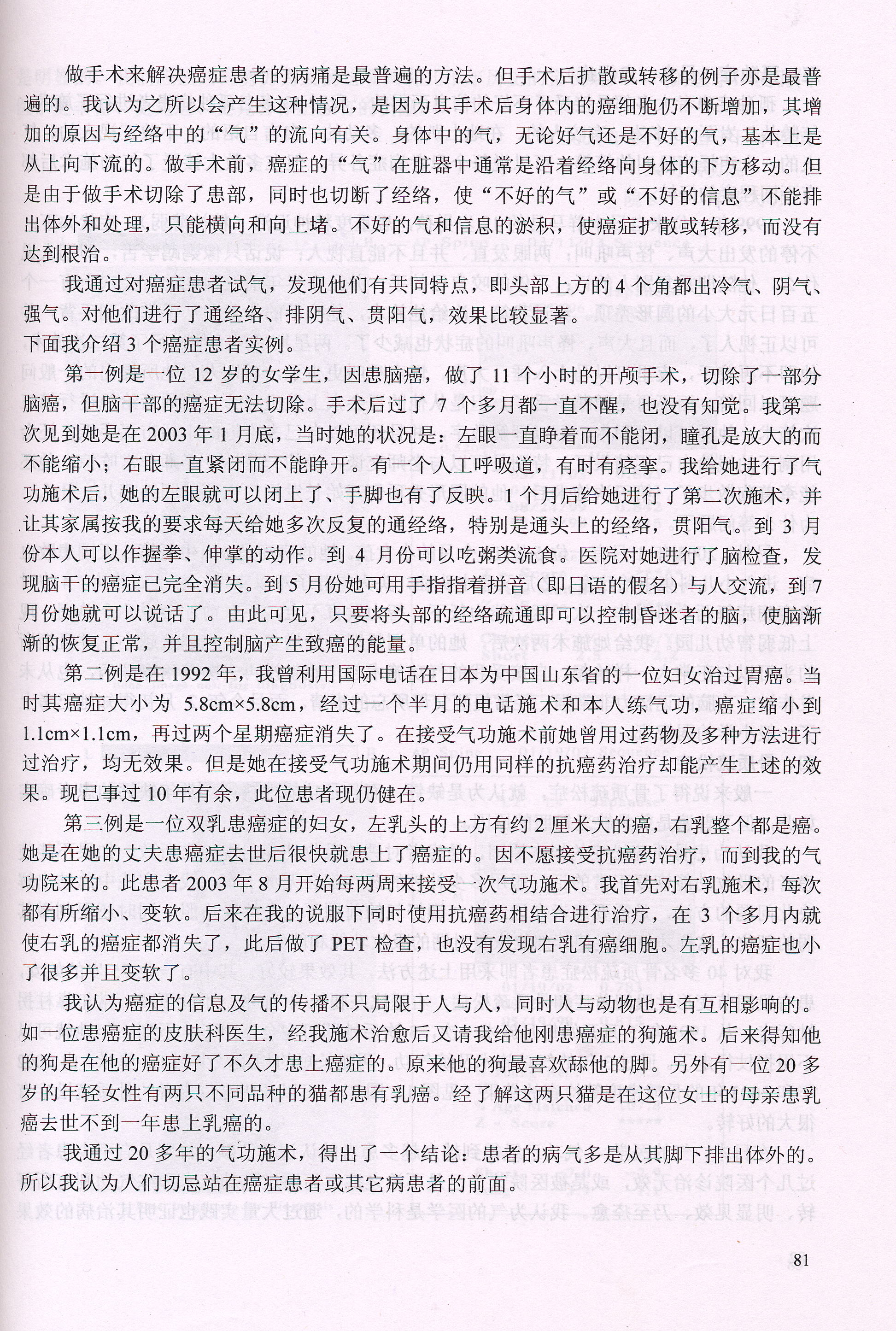 青島大明著 世界医学気功学会発表論文『応用「気の医学」-日本における気功』画像②